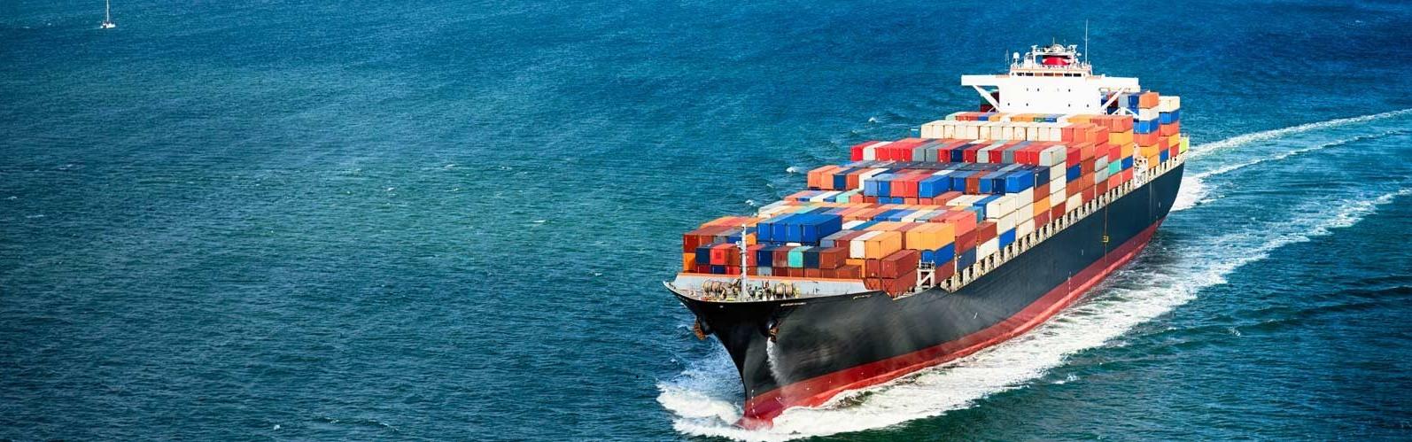 Shipping vessel representing PV module price is decreasing