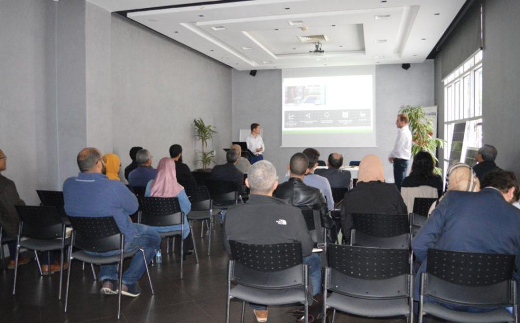 Training presentation in Morocco