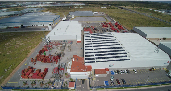 Solar project in mexico 300 kW to illustrate cleaning and maintenace of PV module