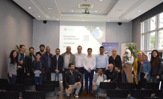 Training Eco Green energy about Maintenace and cleaning solar PV module in Morocco